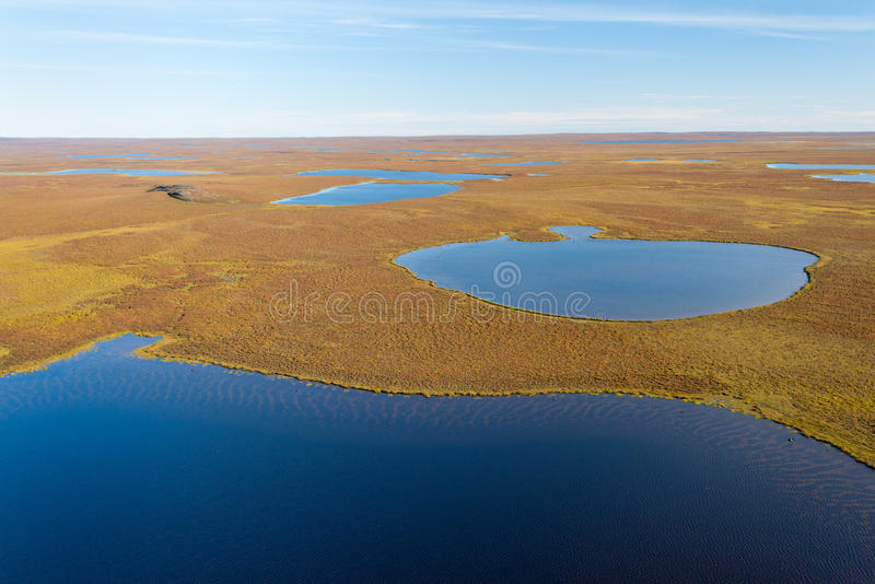 Sparse Landscape of Nunavut, Canada. This image shows the Sparse Landscape of Nunavut, Canada royalty free stock photography