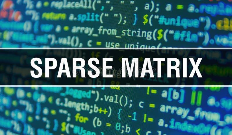 Sparse-matris med binärkod för abstrakt teknik - bakgrund Digital binär data och Secure Data Concept Programvara vektor illustrationer