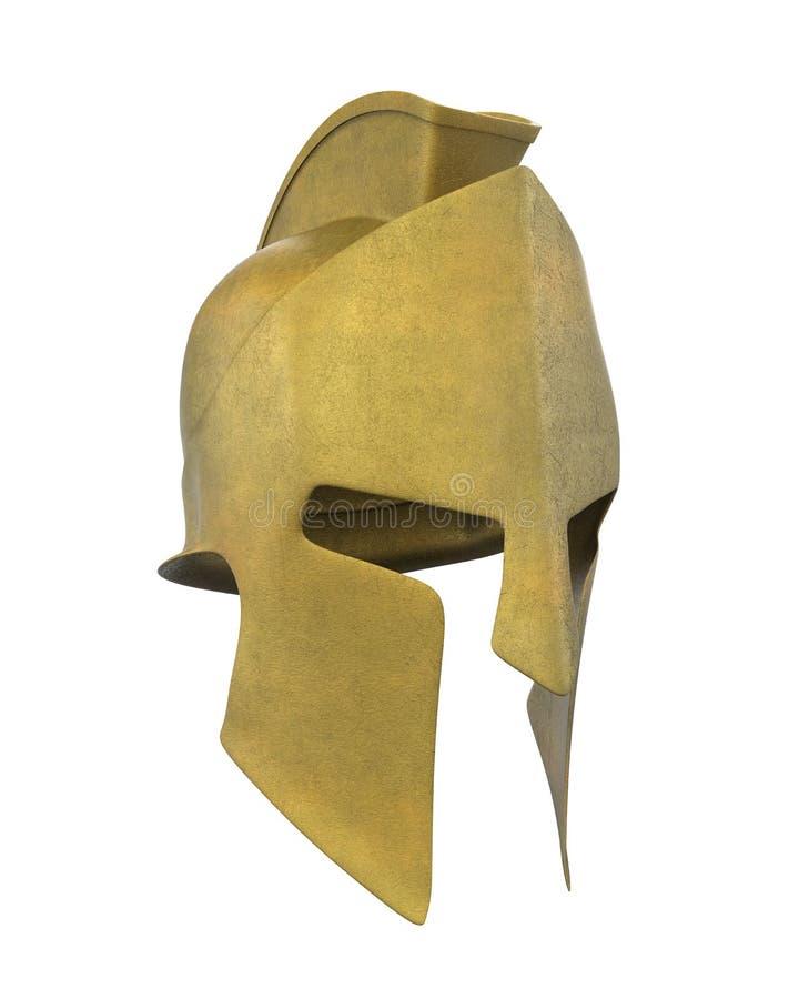 Spartański hełm Odizolowywający ilustracja wektor