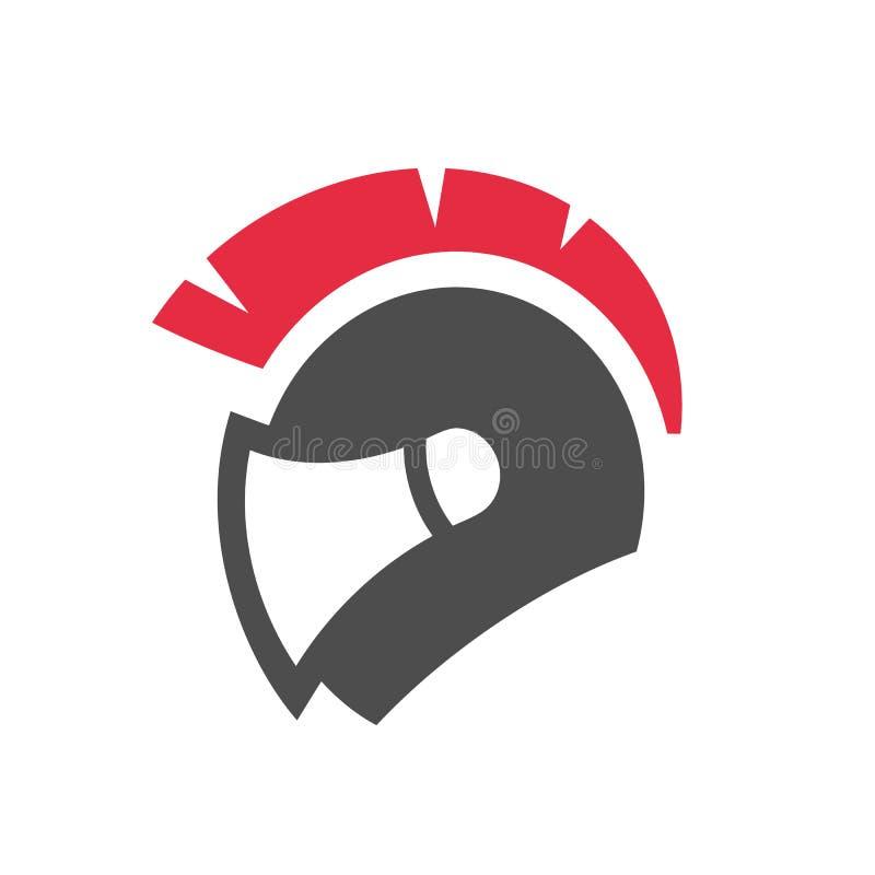 Sparta or spartan motorcycle helmet logo in flat color. Gladiator warrior helmet. Vector icon design vector illustration