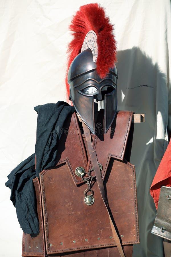 Spartaans pantser royalty-vrije stock fotografie