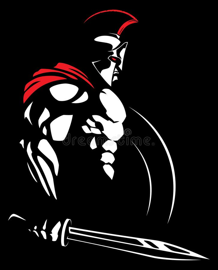 Spartaanse 2 stock illustratie