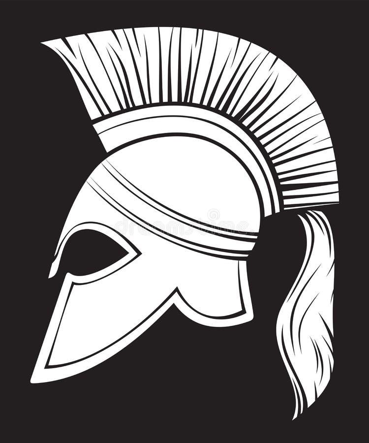 Spartaanse helm vector illustratie