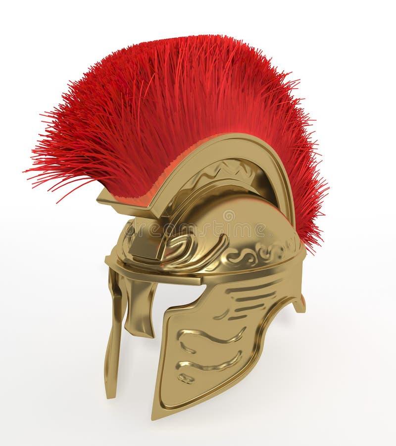 Spartaanse helm royalty-vrije illustratie