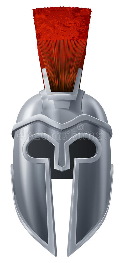 Spartaanse helmillustratie stock illustratie