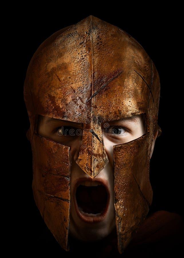 Spartaanse jonge vechter stock foto's