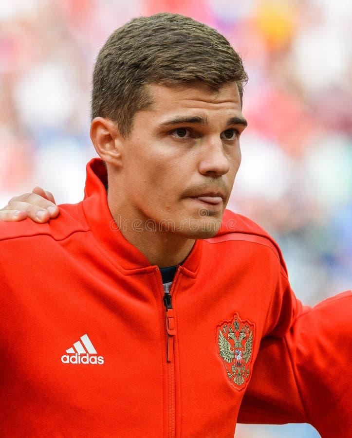 Spartak Moscow and Russia national football team midfielder Roman Zobnin stock photo