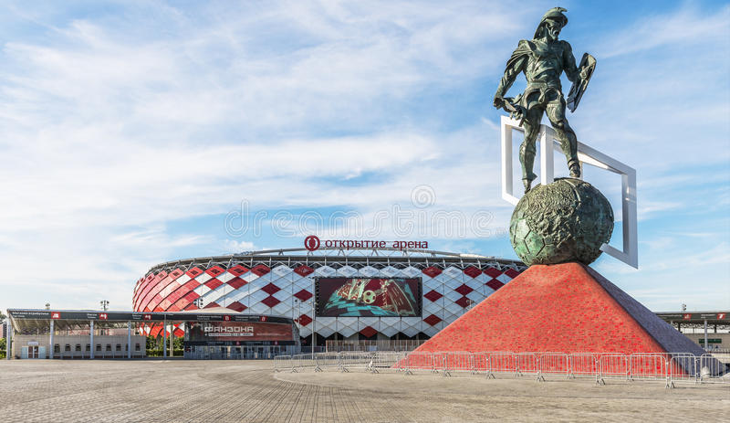 Spartak stadion royaltyfri fotografi