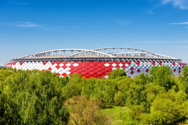 Spartak Stadium Otkritie Arena em Moscou imagens de stock