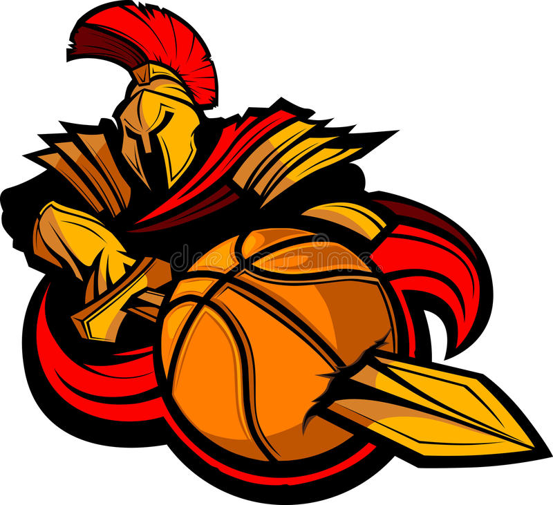 Spartan Basketball Illustration royalty free illustration