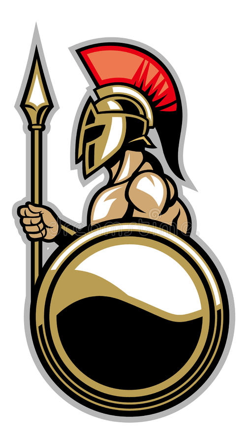 Spartan courage soldier. Vector of spartan courage soldier vector illustration