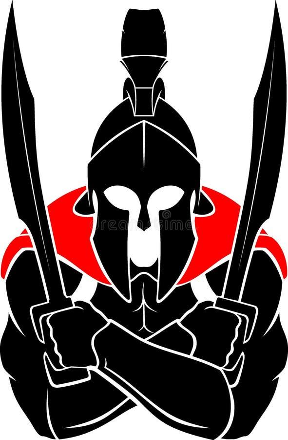 Spartan Crossed Arms vector illustratie