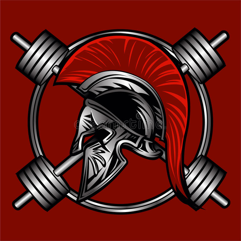 Spartan fitness vector design vector illustration