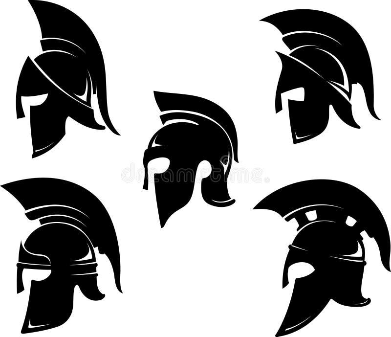 Spartan Helm Set stock illustration. Image of variations ...