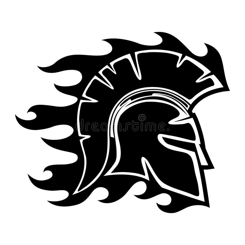 Spartan helmet sign. royalty free illustration