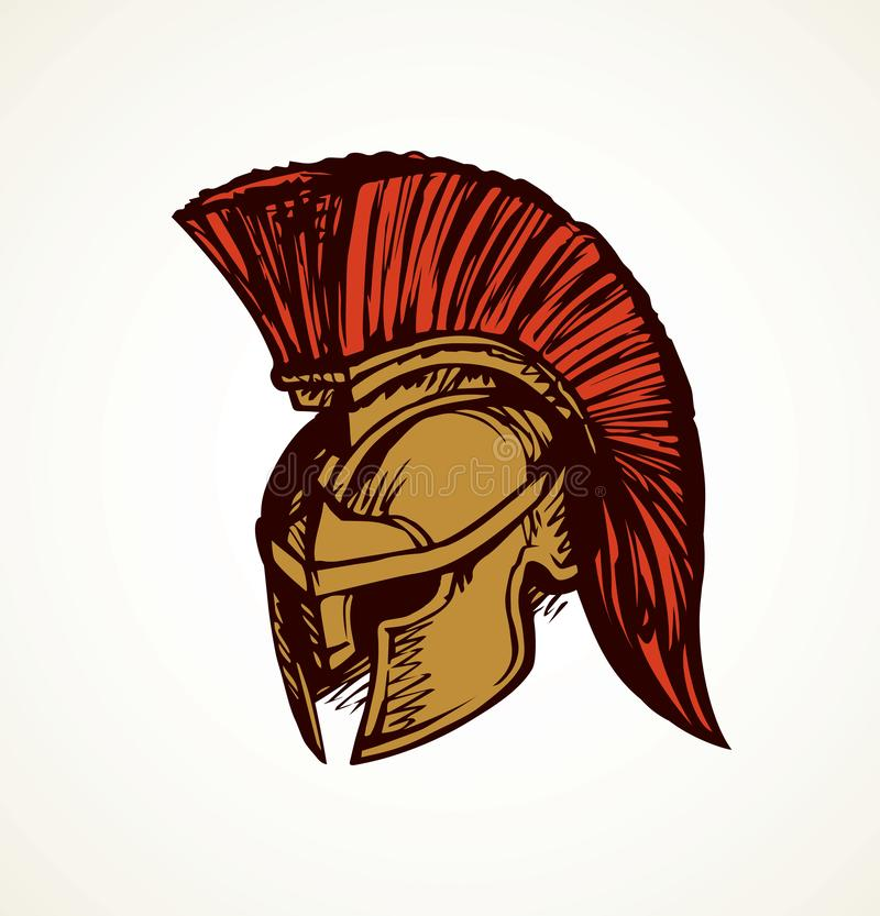 Free Spartan Helmet. Vector Drawing Stock Photos - 137313933