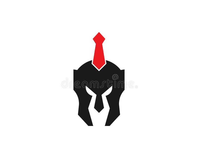 Spartan helmet warrior logo vector template royalty free illustration