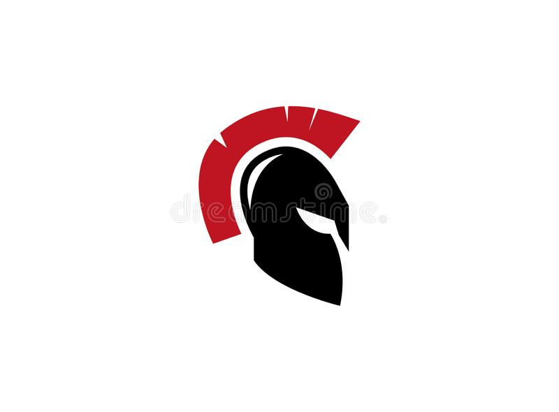 Spartan helmet for warrior protection for logo. Esign illustration, warrior icon stock illustration