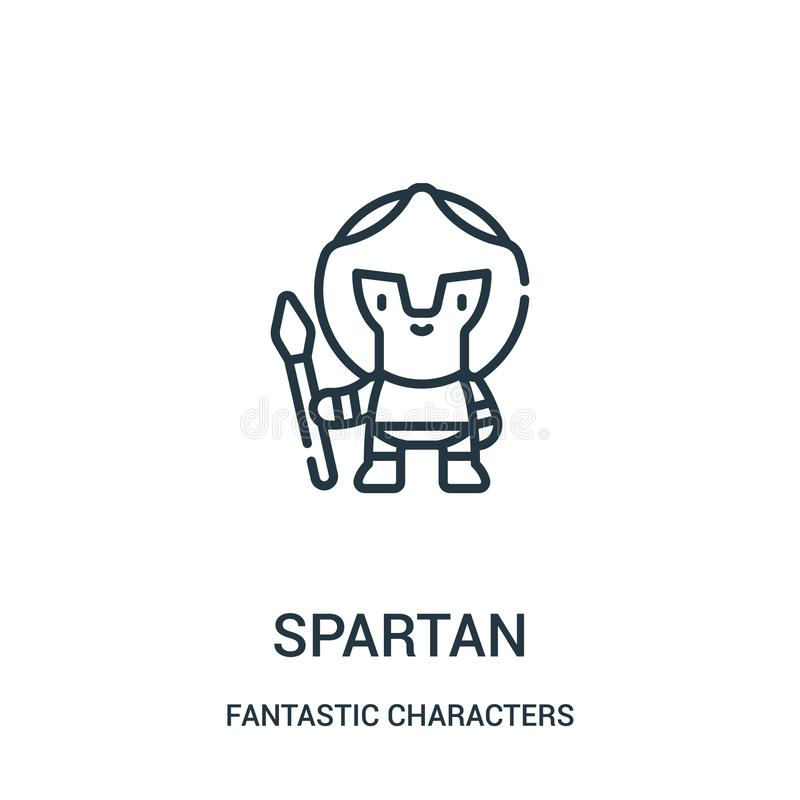 spartan icon vector from fantastic characters collection. Thin line spartan outline icon vector illustration vector illustration