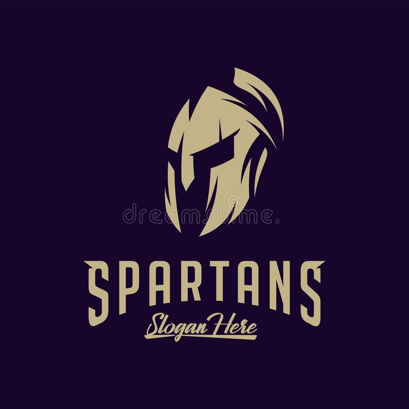 Spartan Logo Vector, Sparta Logo Vector, Spartan Helmet Logo Template, Ikonen-Symbol stock abbildung