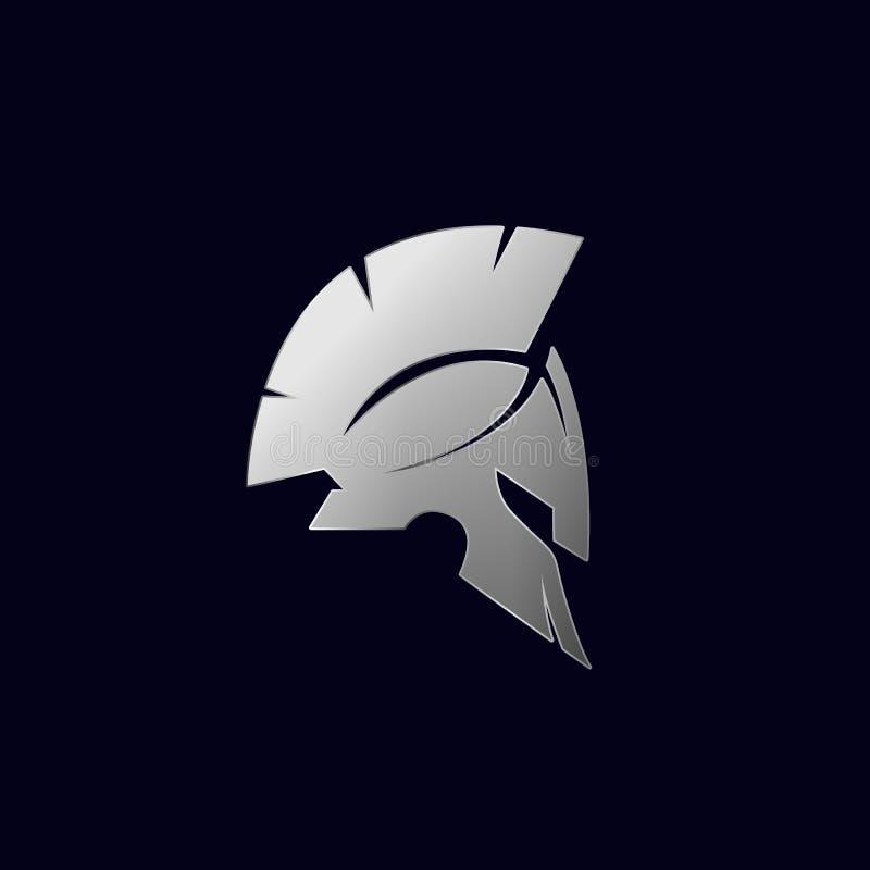 Spartan Logo Vetora, Sparta Logo Vetora, Spartan Helmet Logo ilustração royalty free
