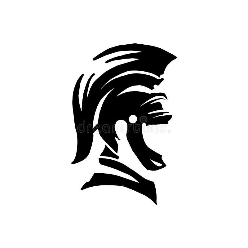 Spartan Logo Vetora, Sparta Logo Vetora, Spartan Helmet Logo, ilustração stock