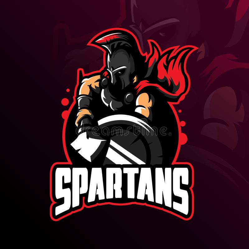 Spartan mascot logo design vector with modern illustration concept style for badge, emblem and tshirt printing. spartan royalty free illustration