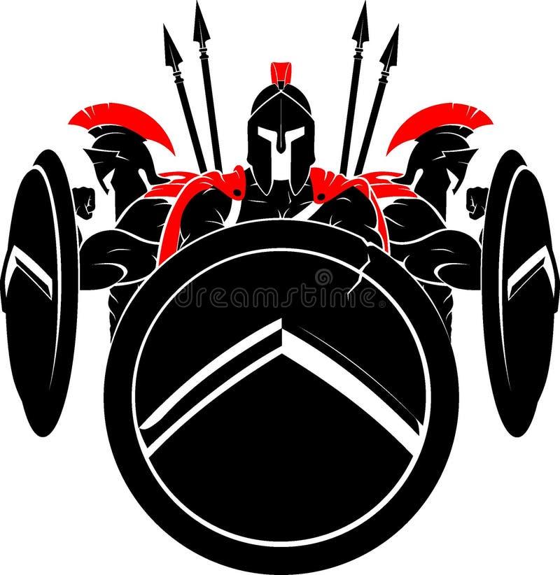Spartan Medieval Army stock illustratie