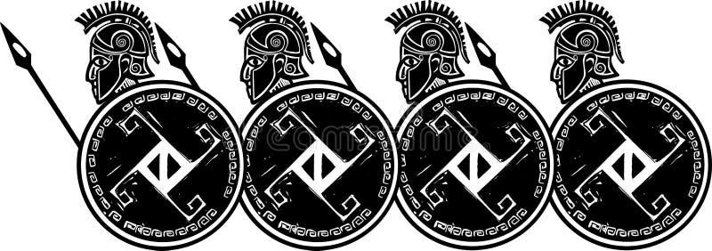 Spartan Phalanx Profile illustration de vecteur