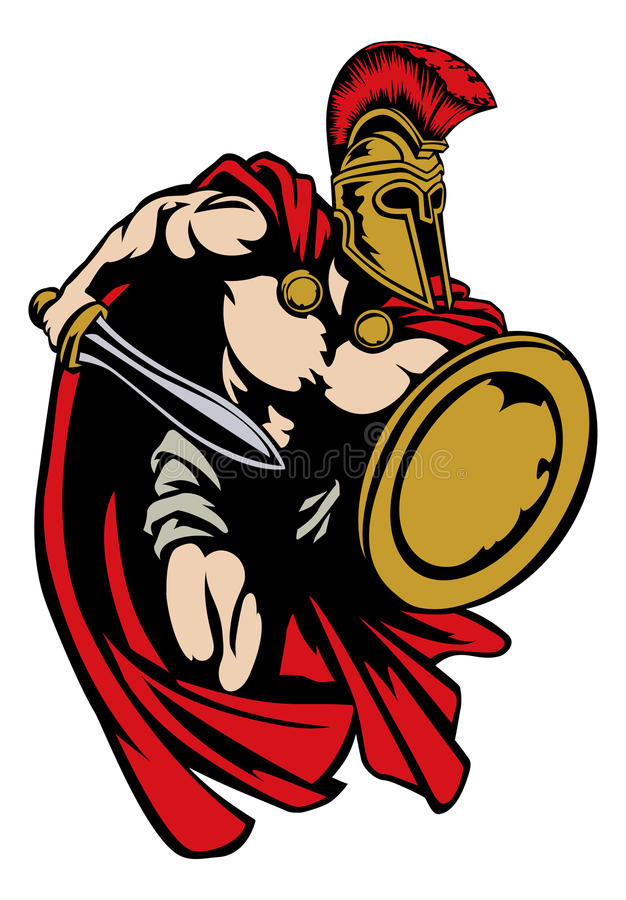 Free Spartan Roman Or Trojan Gladiator Ancient Greek Warrior Stock Photo - 77386800