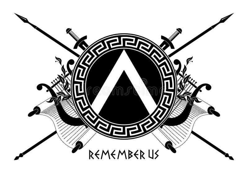 Spartan shield royalty free stock image
