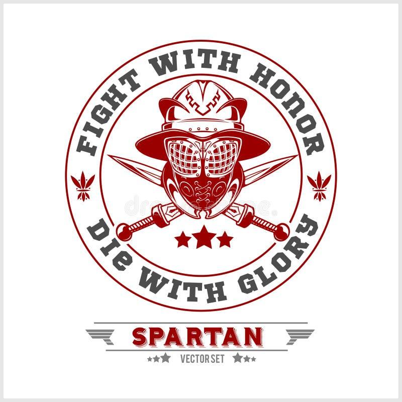 Spartan Team Logo and emblems - vector set. On white background royalty free illustration