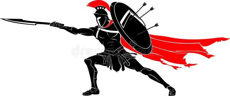 Spartan Thrust Sword Attack vector illustratie
