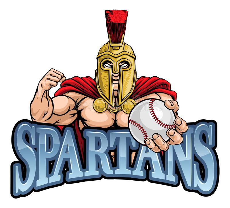 Free Spartan Trojan Baseball Sports Mascot Royalty Free Stock Photo - 194582975