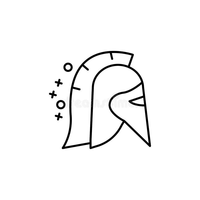 Spartan war helmet icon. Element of history icon vector illustration
