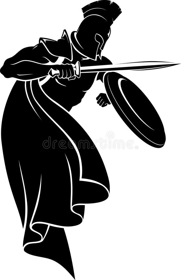 Spartan Warrior Silhouette