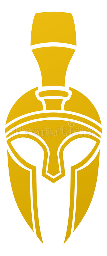 Spartanische oder Trojan Sturzhelmikone lizenzfreie abbildung