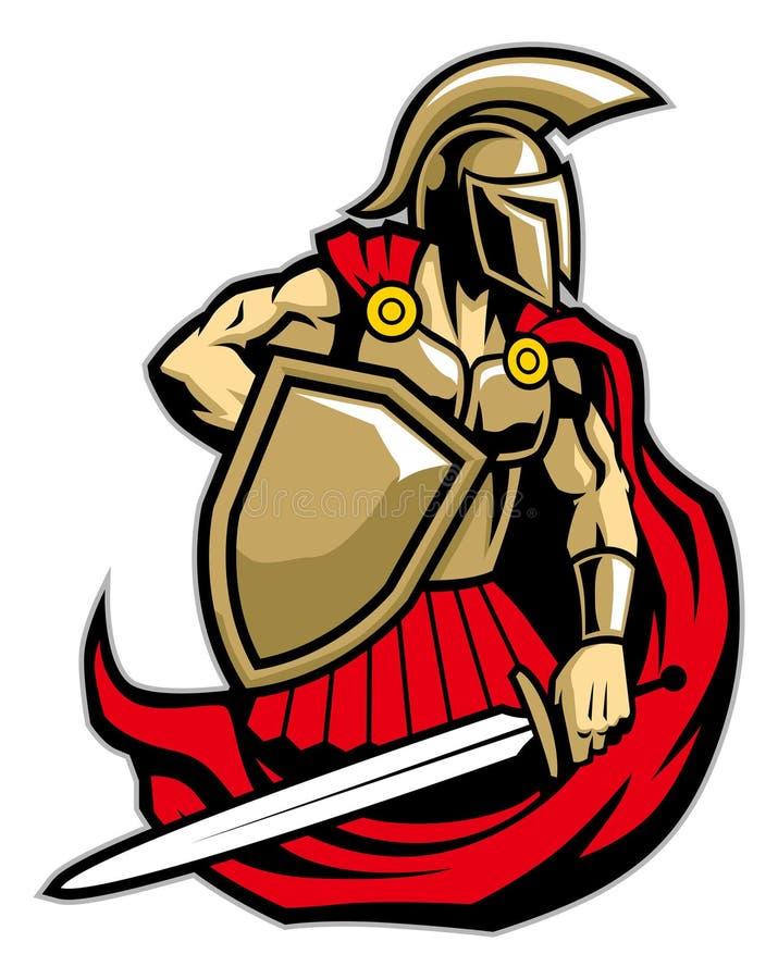 Spartanischer Krieger lizenzfreie abbildung