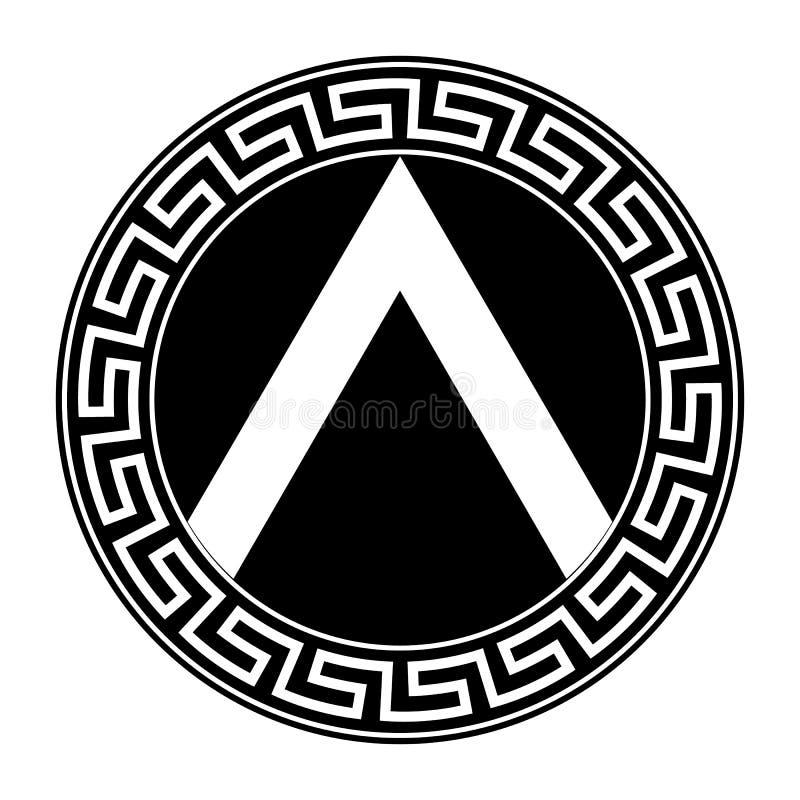Spartanisches Schild lizenzfreie abbildung