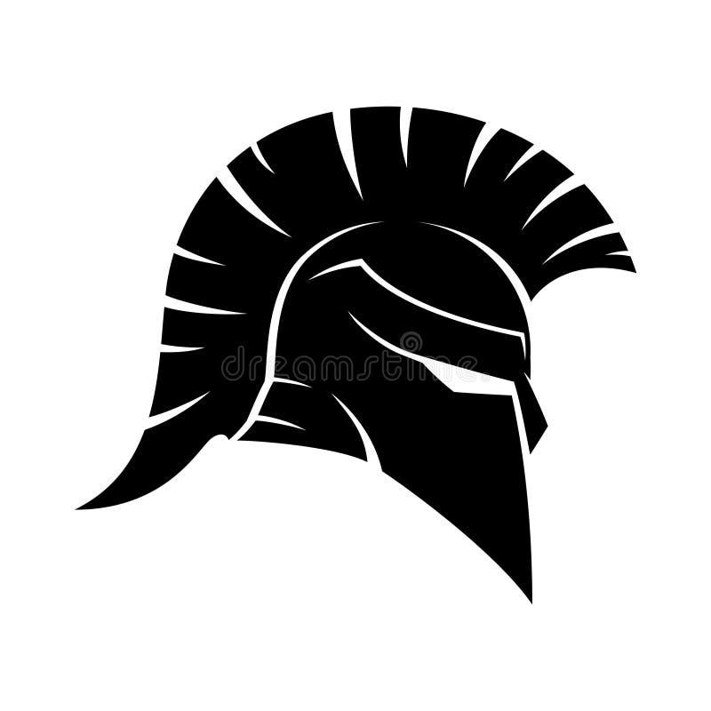 Spartanisches Sturzhelmzeichen stock abbildung