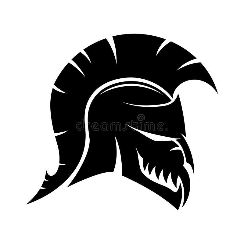 Spartanisches Sturzhelmzeichen vektor abbildung