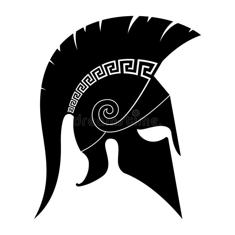 Spartansk hjälm stock illustrationer
