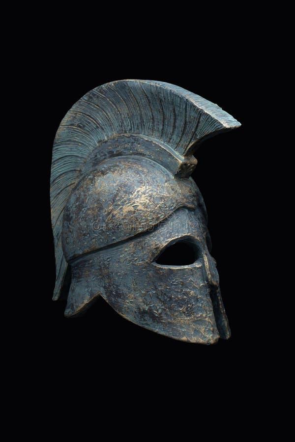 Spartansk militär hjälm royaltyfria foton