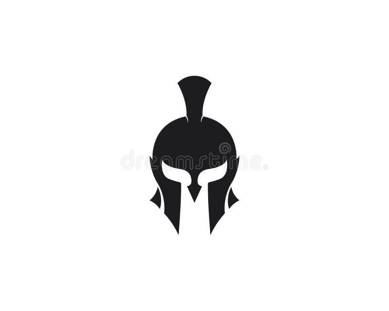 Spartansk symbol f?r vektor f?r hj?lmlogomall vektor illustrationer