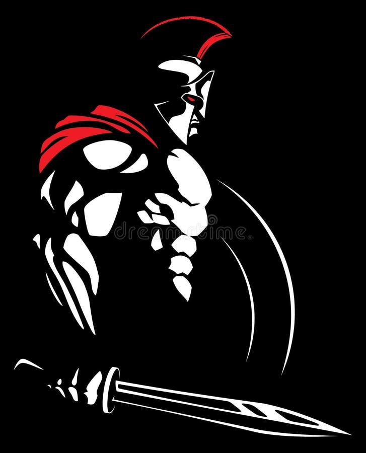 Spartanska 2 stock illustrationer