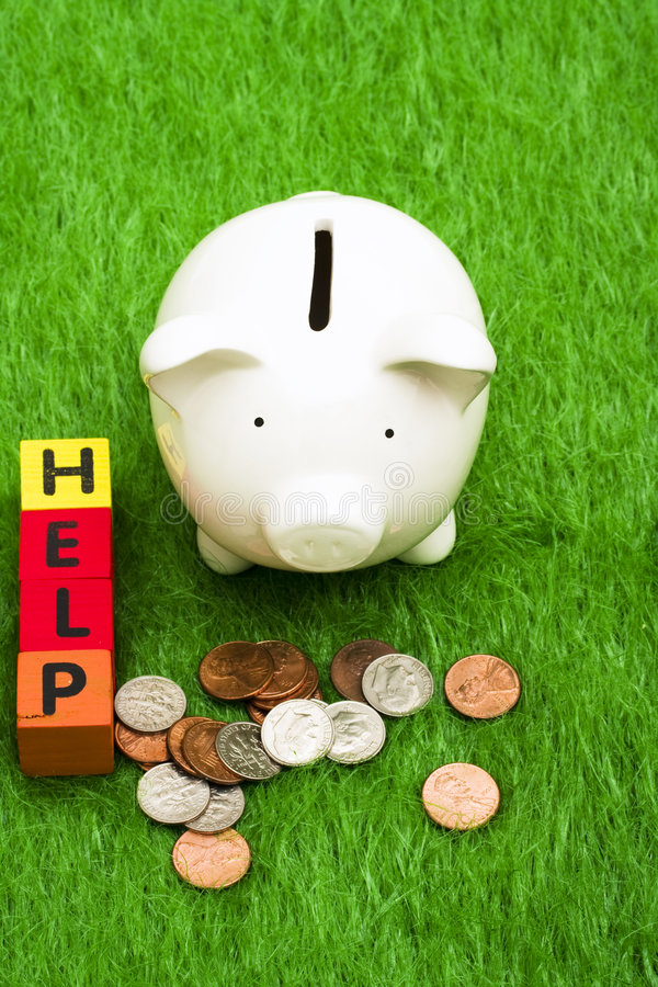 Sparungs-Hilfe stockbilder
