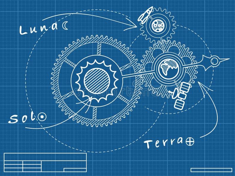spase механика светокопии бесплатная иллюстрация