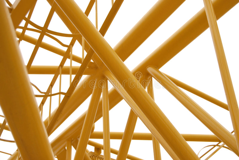 Spase Metal Truss Colored Yellow stock photography