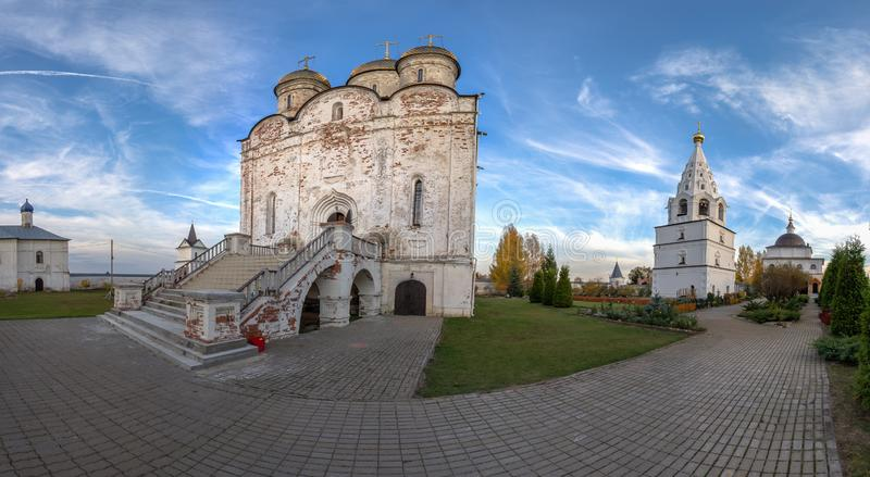 Spaso-Borodino monastery on the Borodino field in Central Russia in autumn. The monastery of the Savior full name-the monastery of the Savior in the name of royalty free stock image