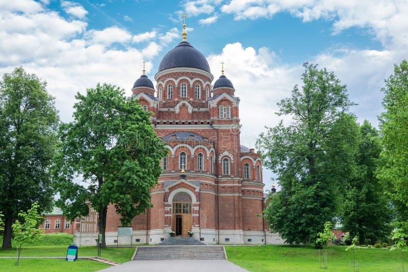 Spaso-Borodinsky kloster, Borodino, Mozhaysk område, Moskva arkivbild